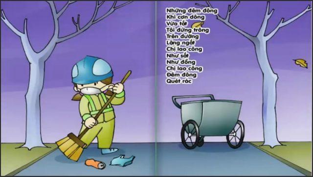 Bài thơ Tiếng chổi tre (Tố Hữu) - Khúc ca lao động cất lên giữa đêm khuya
